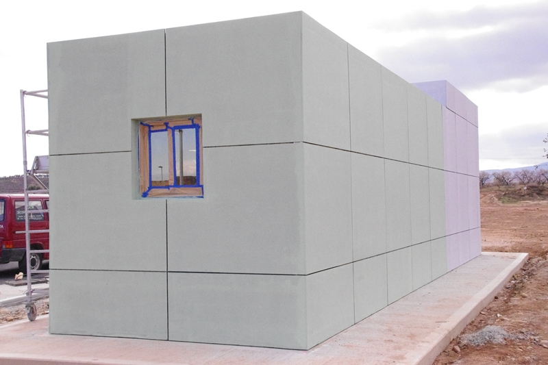 Edificio prefabricado de vigilancia y seguridad balat - Casetas prefabricadas leroy merlin ...