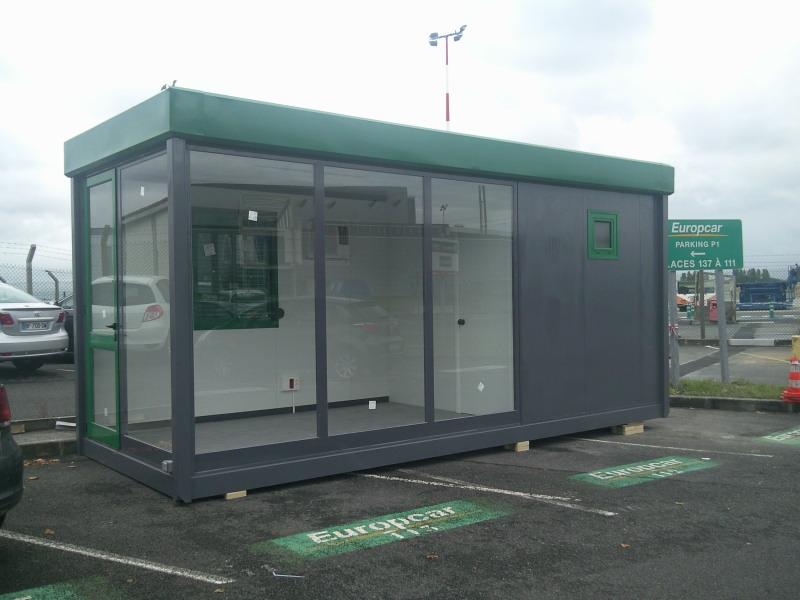 Oficina prefabricada de ventas para europcar balat for Oficina europcar atocha
