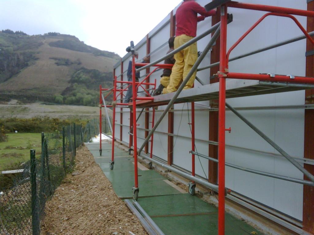 fachada ventilada montaje construccion modular