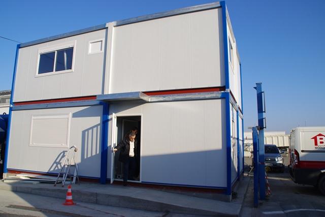 Edificio modular para oficinas administrativas balat modulos prefabricados - Oficinas western union madrid ...