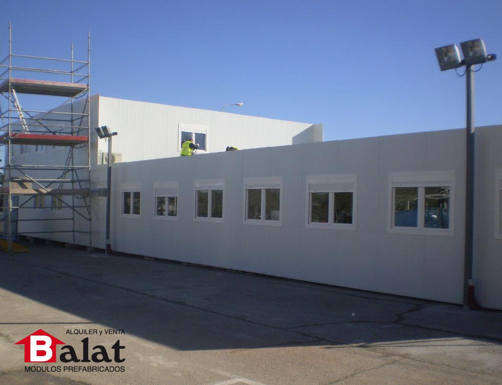 oficinas prefabricadas bbva balat madrid construccion