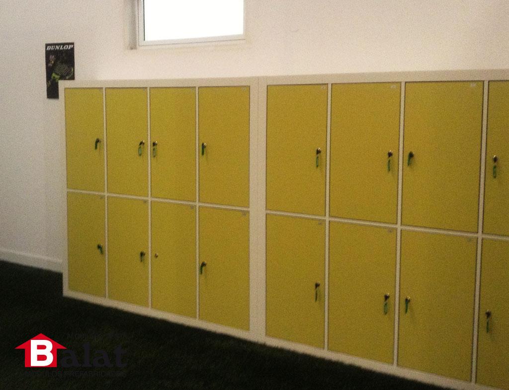 Balat Vestuarios prefabricados modulares, padel futbol