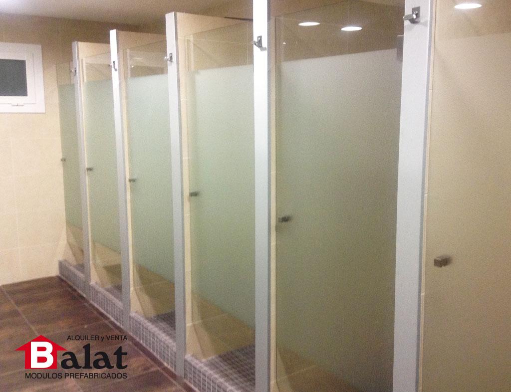 Balat Vestuarios prefabricados modulares padel futbol