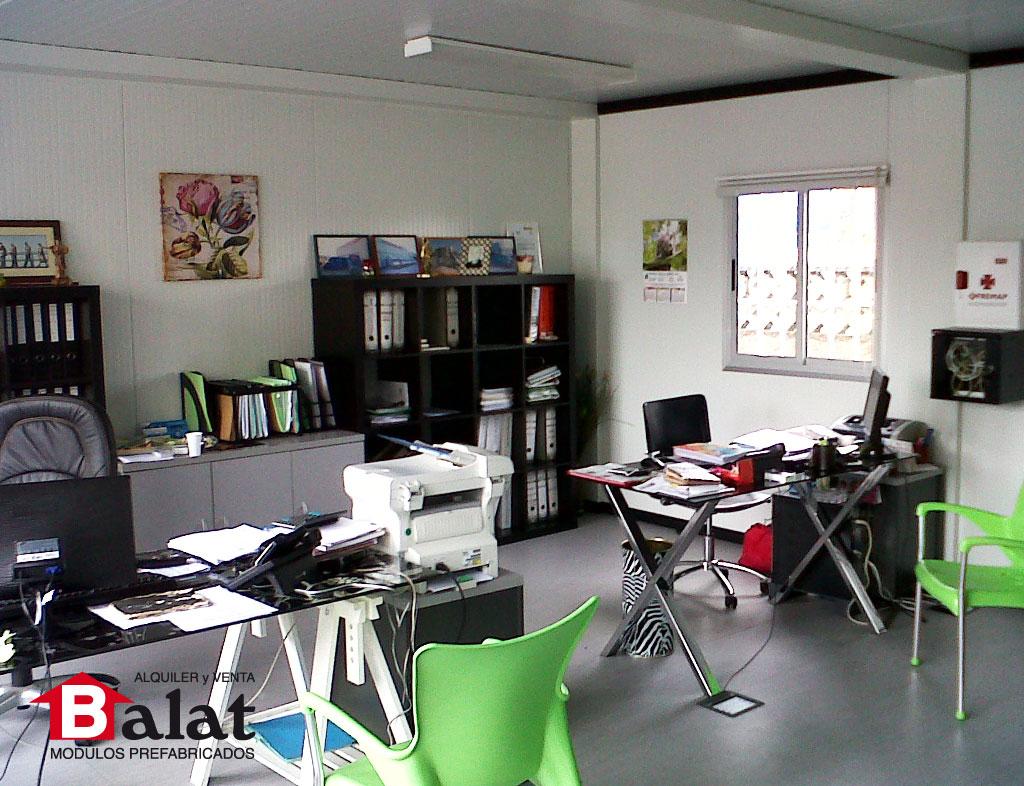Oficina prefabricada para carrocer as anjore con equipamiento incluido - Balat modulos prefabricados ...