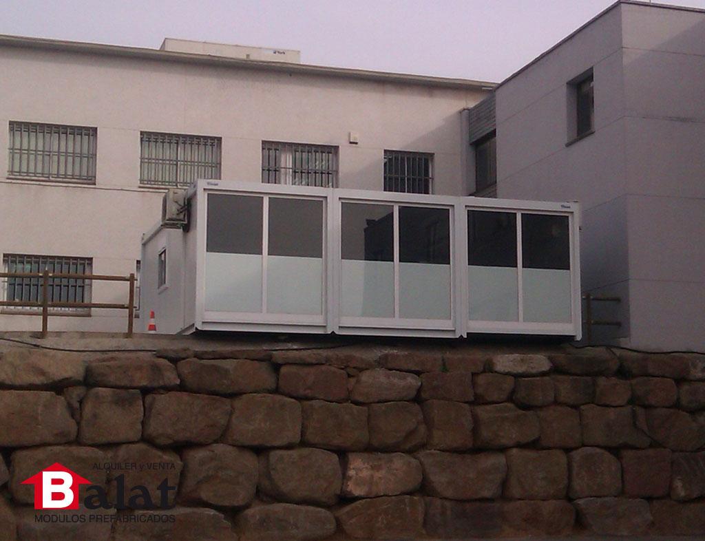 Oficina prefabricada en lli a del val proyectos balat for Oficina prefabricada