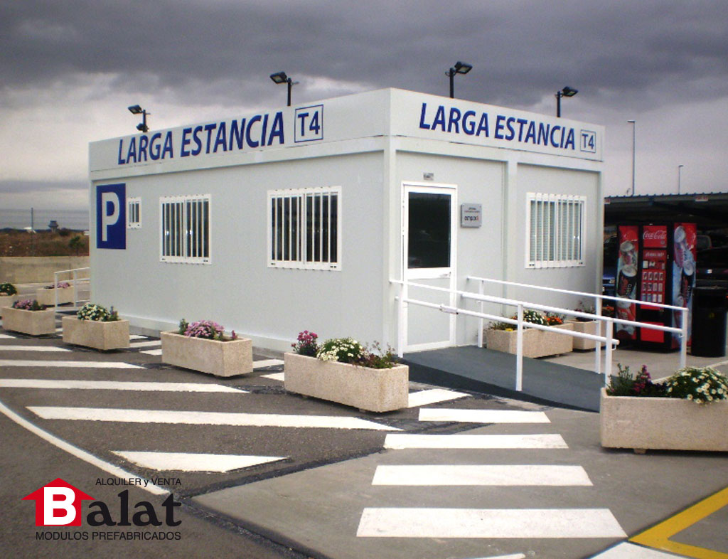 Oficinas prefabricadas parking de larga estancia del for Oficinas prefabricadas