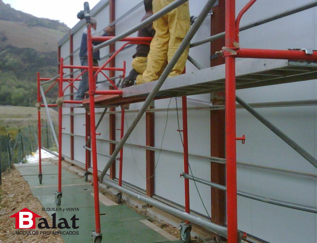 Oficina prefabricada para reciclaje de residuos berziklatu - Balat modulos prefabricados ...