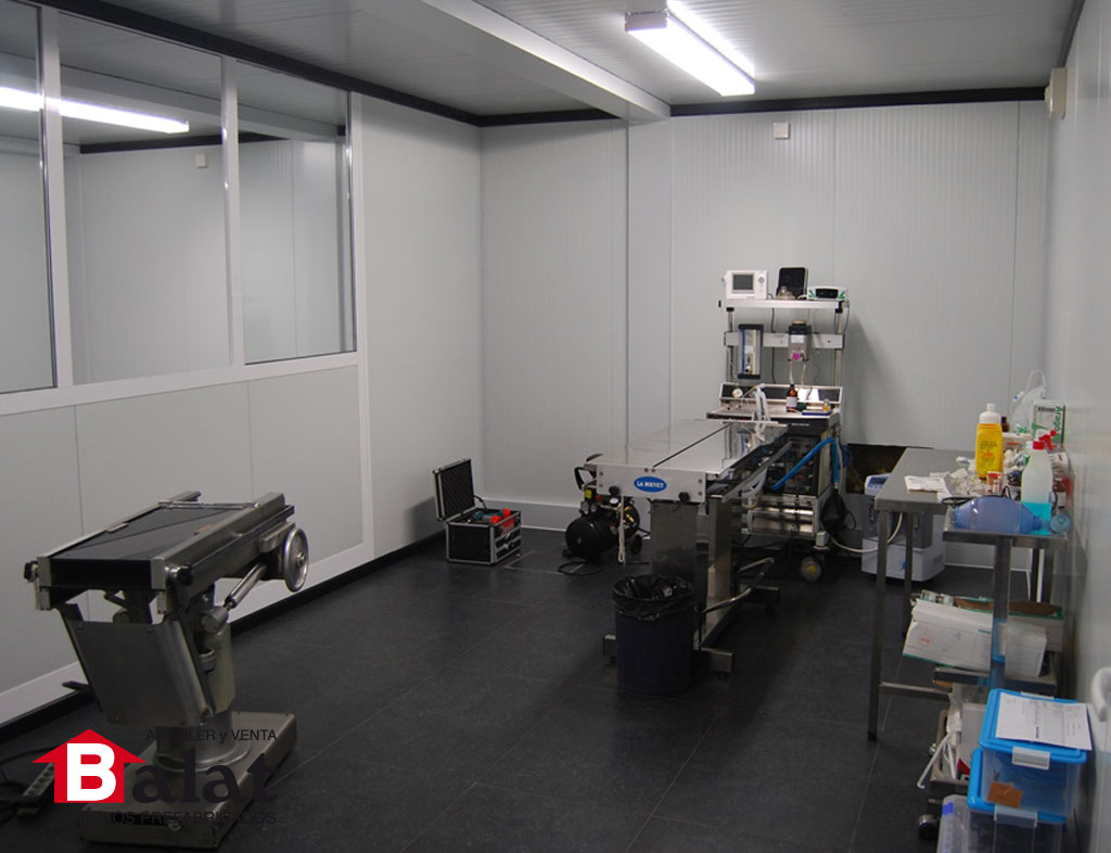 oficina prefabricada instalada en pamplona para cv san
