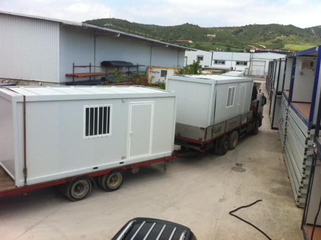Transporte de módulos prefabricados