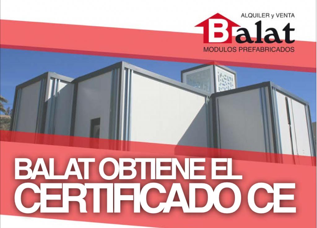 Balat hemos obtenido el certificado ce balat - Balat modulos prefabricados ...