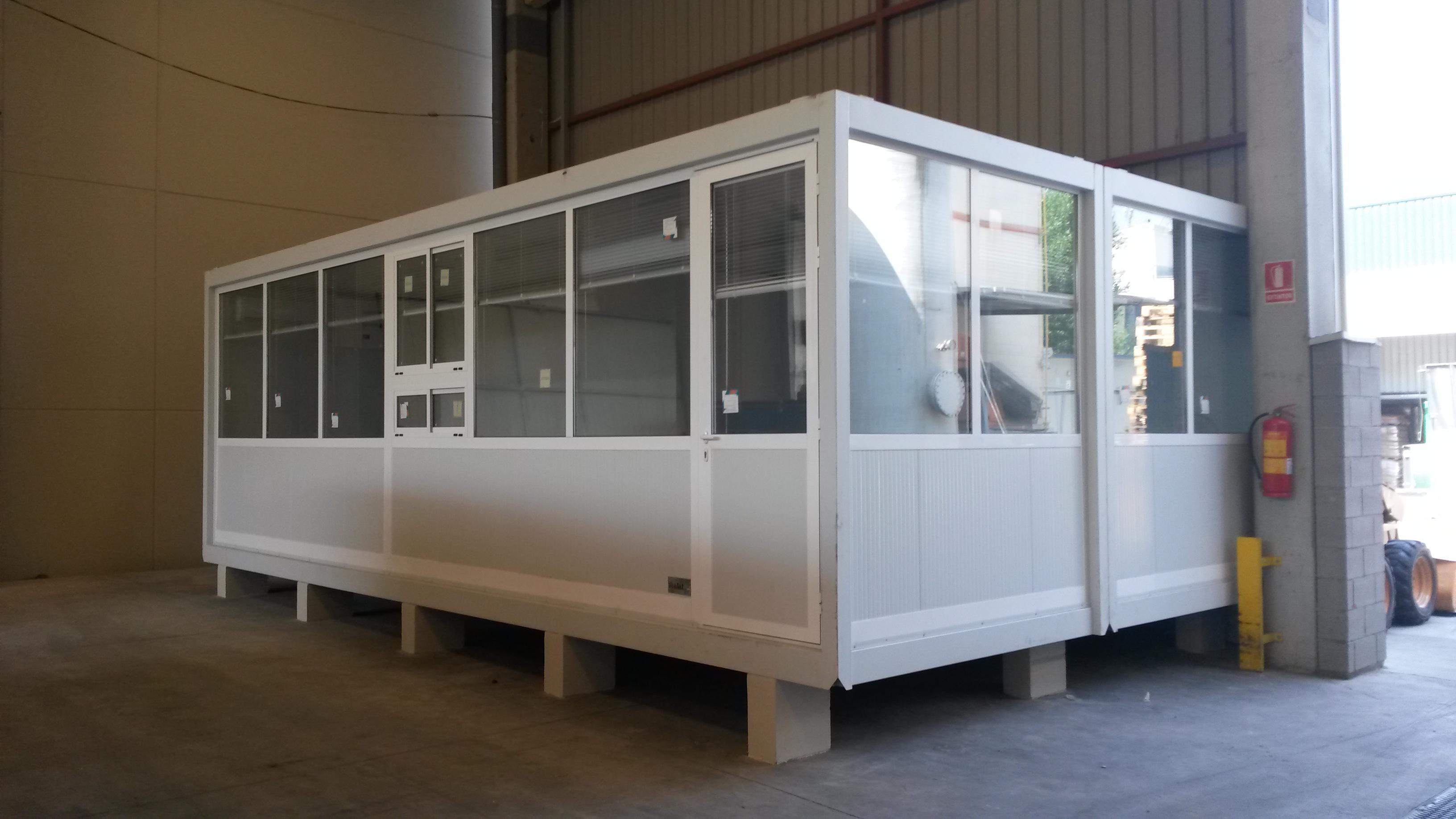 M dulos prefabricados como oficinas para trumpler for Oficina prefabricada