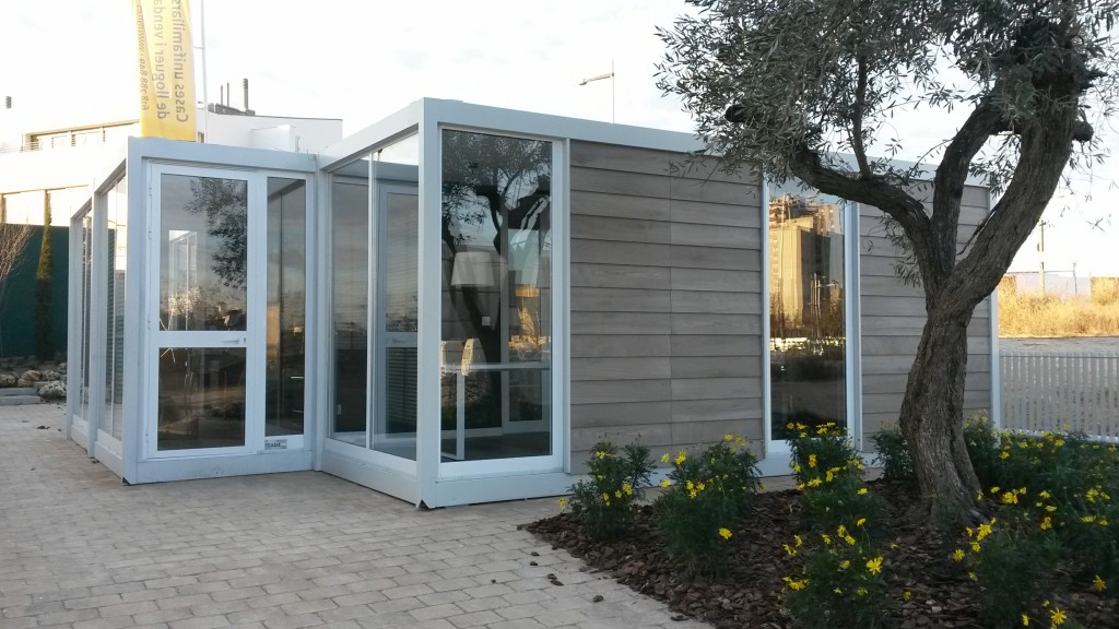 Oficina prefabricada para promoci n inmobiliaria balat for Oficina prefabricada